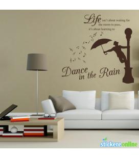 Dans in ploaie - abtibild de perete