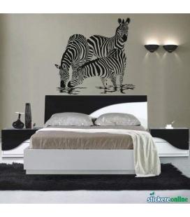 Zebre - autocolant de perete