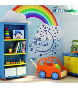 Ursulet pe luna - decoratiune perete copii