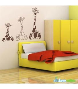 3 girafe - colante de perete camere copii