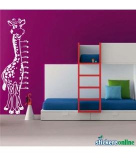 Girafa cu scara - colante decorative perete