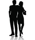 Cuplu romantic 4 - stiker decorativ