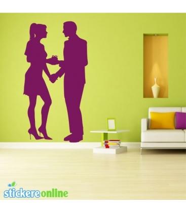Cuplu romantic 2 - stickere perete