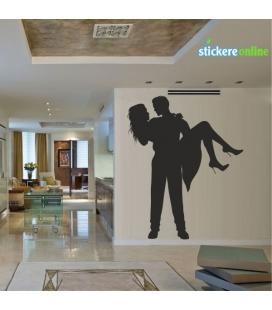 Cuplu romantic 1 - sticker decorativ perete