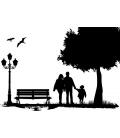 Cu familia in parc - sticker perete