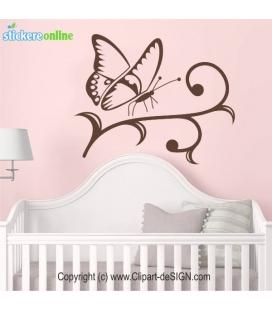 Fluture clasic - autocolant de perete