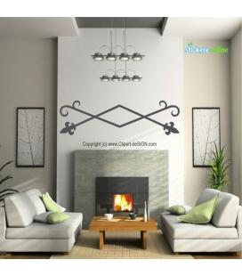 Design fier forjat - sticker de perete