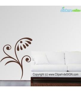 Floare clasica - stickere decorative