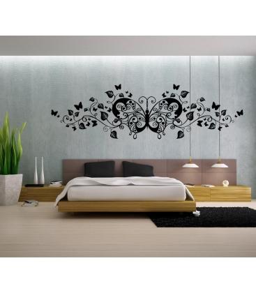Fluture intre flori - stickere perete