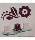 Floare abstracta - stickere decorative