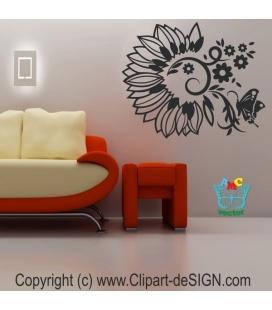 Floarea soarelui abstracta