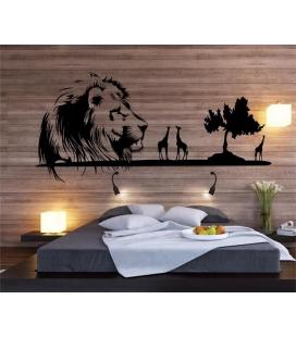 Regele leu - autocolant decorativ perete