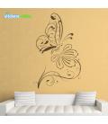 Fluture pe floare - stickere decorative dormitor