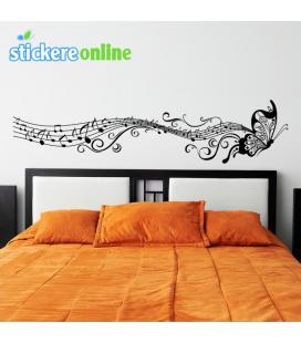 Fluture muzical - stickere decorative perete