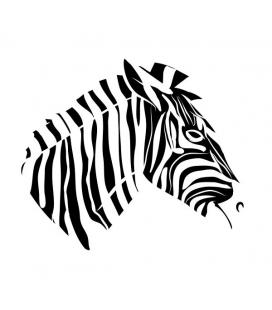 Cap de zebra - abtibild de perete
