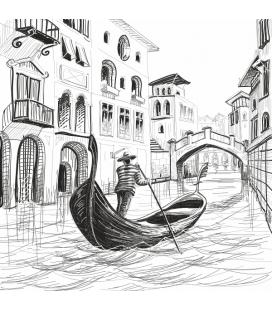 Gondola in Venetia - autocolant decorativ perete